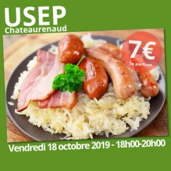 CHOUCROUTE À EMPORTER USEP CHATEAURENAUD